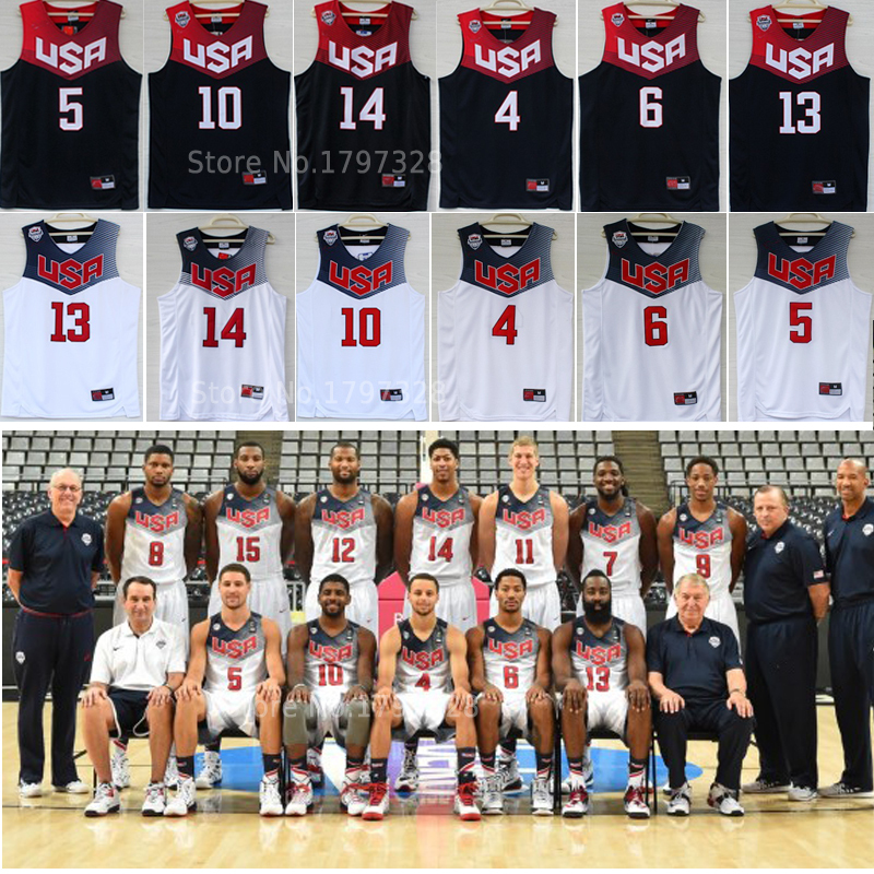 cheap 2014 world cup team usa basketball jersey Kevin Durant,Stephen Curry,Kyrie Irving,Derrick Rose,James Harden,Anthony Davis(China (Mainland))