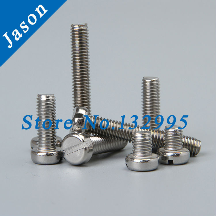 M5*50  DIN84  Stainless steel A2 Slotted cheese head screws (SUS 304 DIN84 M5*L)<br><br>Aliexpress