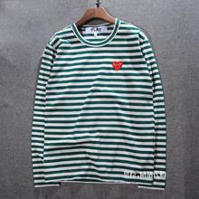 new T-shirt MEN WOMEN COMME DES GARCONS CDG PLAY stripes red heart fashion LONG SLEEVE T shirt t shirt size S – XL