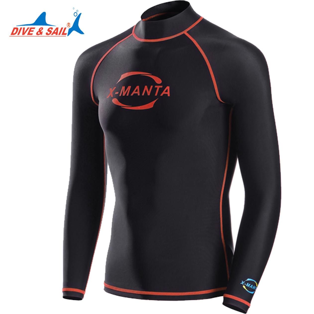 Dive Sail Lycra Upf 50 Long Sleeve Rash Guards Shirts For