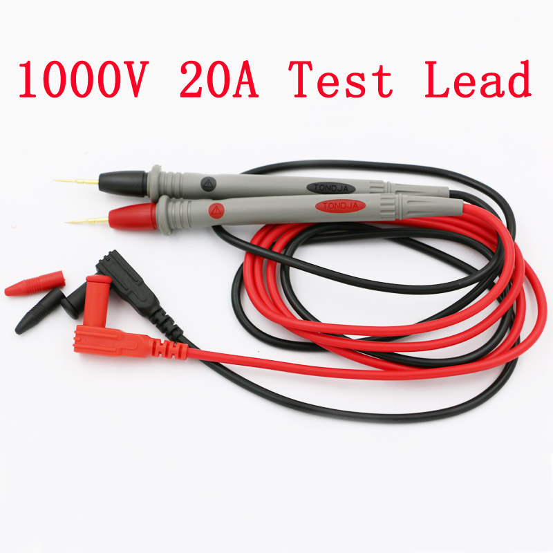 2pcs/1lot Digital Multimeter Universal 1000V 20A Test Lead Probe Cable SMD SMT Needle Tip(China (Mainland))