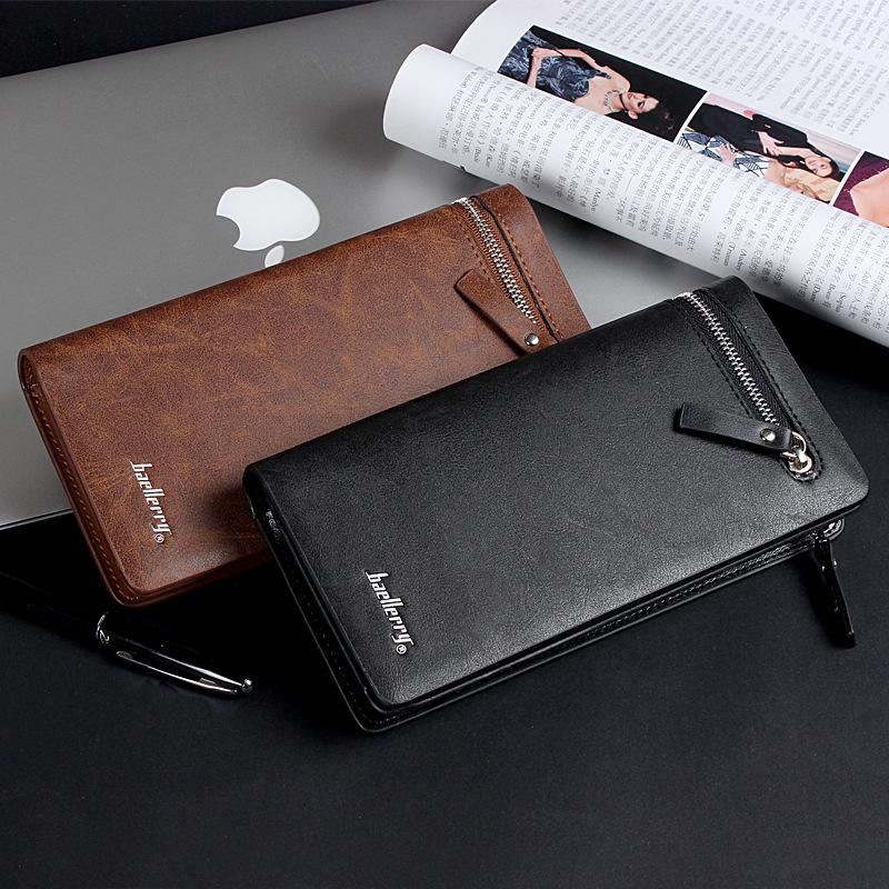 Brand mens business casual long wallet , zipper versatile clutch bag men , solid high-grade PU leather purse,free shipping<br><br>Aliexpress