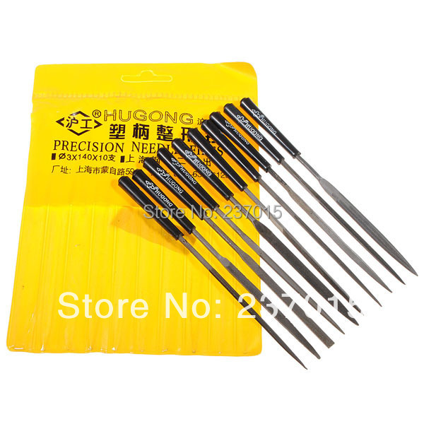 10Pcs Glass Stone Jewelers Diamond Wood Carving Craft Metal Needles Files Sets