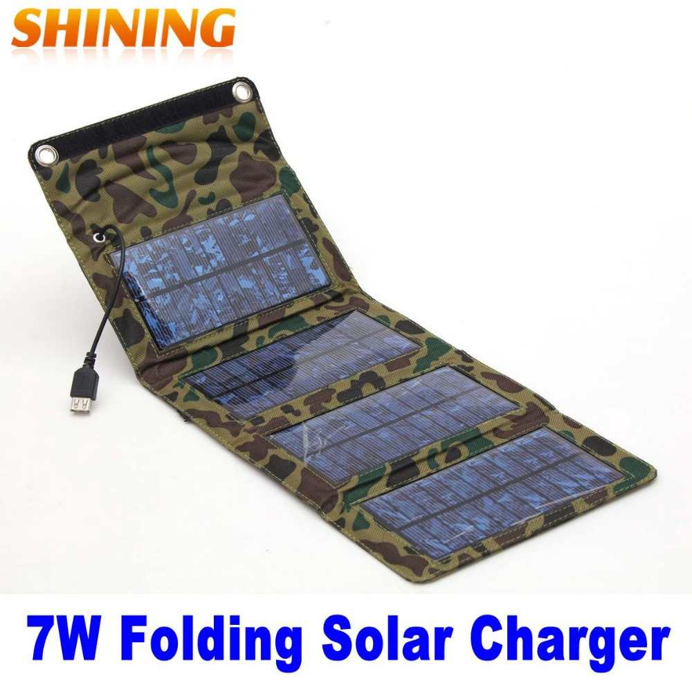 New Waterproof 5.5V 7W Portable Folding Foladable Solar Panel Charger Mobile Cellphone Battery Charger With USB Output