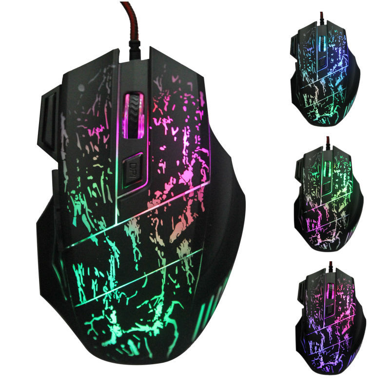2015 Big discount ! Hot Sale Gaming mouse 5500 DPI 7 Buttons LED Optical USB Wired Gaming Mouse Mice For Pro Gamer Free Shipping(China (Mainland))
