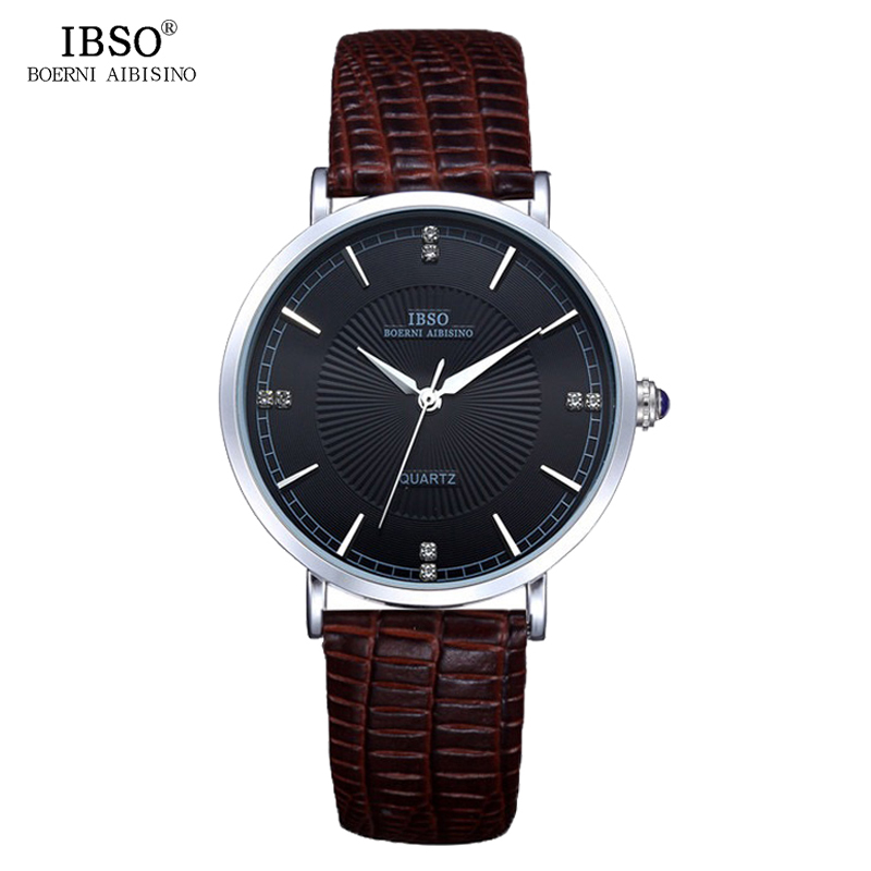 IBSO Business Leather Band Quartz Watch For Male 2016 New With Tags Relogio Masculino Outdoor Water Resistant  Mens Wristwatches<br><br>Aliexpress