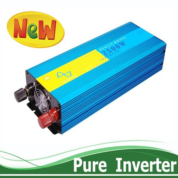 China Manufacturer Power Inverter 2500W Pure Sine Wave Inverter Off Grid type, DC to AC 12v 220v Inicio Solar Inverter 2500w(China (Mainland))