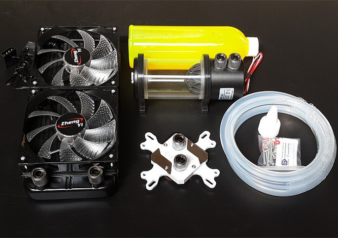 Computer CPU Metal water Cooling cooled set water head block radiator cylindrical water tank pump heat sink Kits(China (Mainland))