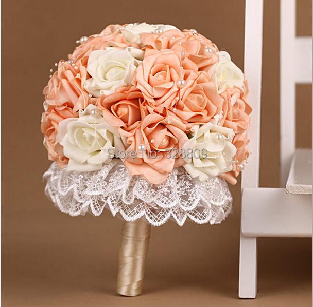 acheter saint valentin cadeau 100 fait main orange et rose rose bouquets de. Black Bedroom Furniture Sets. Home Design Ideas