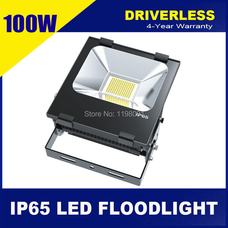 4pcs New-Tech 100W HV Driverless Reflector LED Lighting High Quality Outdoor Projector OSRAM SMD3030 LED Flood Light lamparas(China (Mainland))