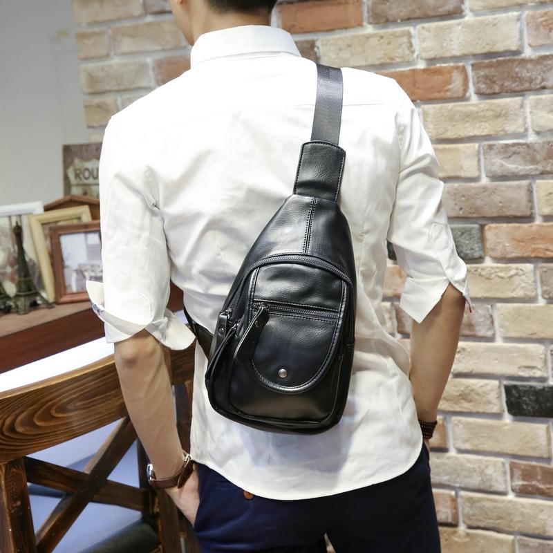 Tidog Men's chest pack new casual bag summer multifunctional cortex trend Korea male bag(China (Mainland))