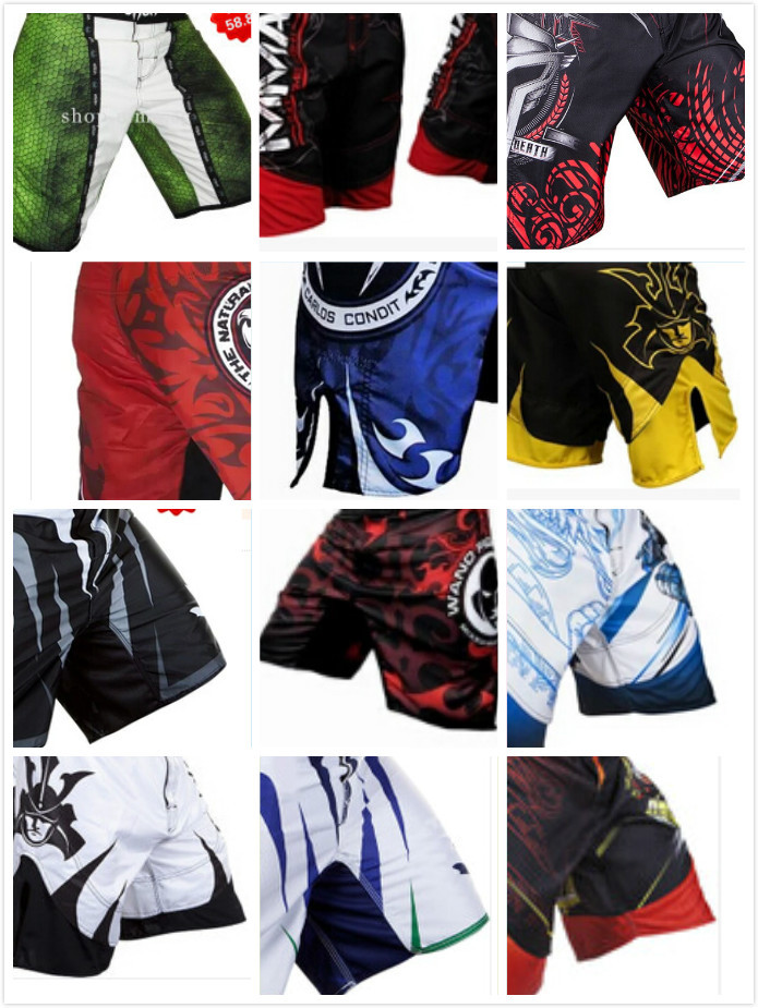 Mens MMA Boxing Fight Shorts MMA brand Trunks Martial Arts Wear Pretorian Boxing Sanda Shorts White Muay Thai Free Shipping(China (Mainland))