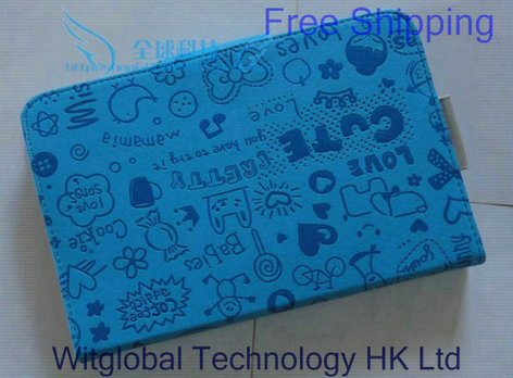 """7"""" Intenso Tab 724 714 704 tablet / Serioux S716 S733 S718 Cute Fashion LEATHER CASE Cover +Stylus+Film Free Shpping"""