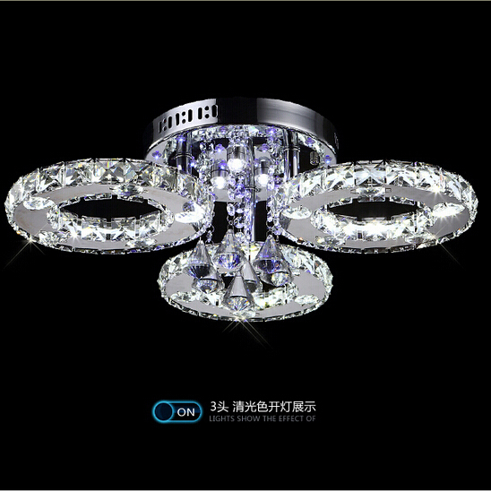 new creative K9 crystal LED ceiling lamp modern home crystal light Dia 62cm free shipping(China (Mainland))