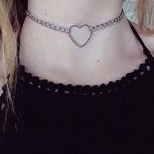 Buy New fashion jewelry hollow heart choker necklace gift women girl N2058 for $1.51 in AliExpress store