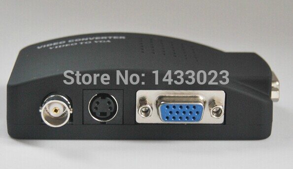 1pcs/lot BNC to VGA Converter box CCTV S-Video/ BNC to VGA Video PC Converter Adapter(China (Mainland))