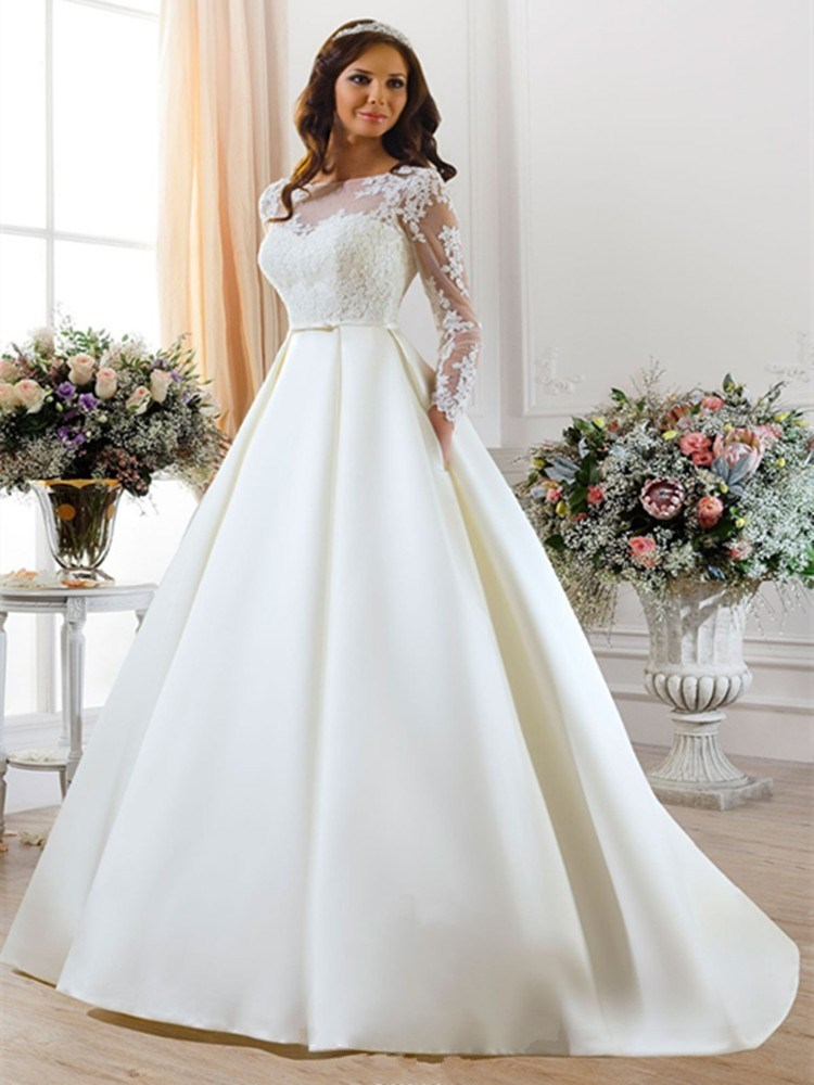 Online buy wholesale simple long sleeve wedding dresses for Simple long sleeve wedding dresses