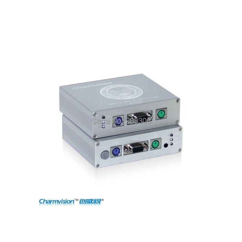 Здесь можно купить  100 meters KVM Extender VGA+PS/2 port, with clarity and brightness adjustment, good for CCTV system, CAT5E VGA extend  Компьютер & сеть