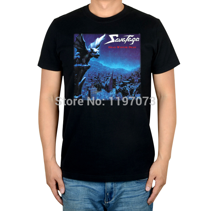 Savatage Dead Winter Dead cover men's heavy metal progressive metal 100% cotton T-Shirt(China (Mainland))