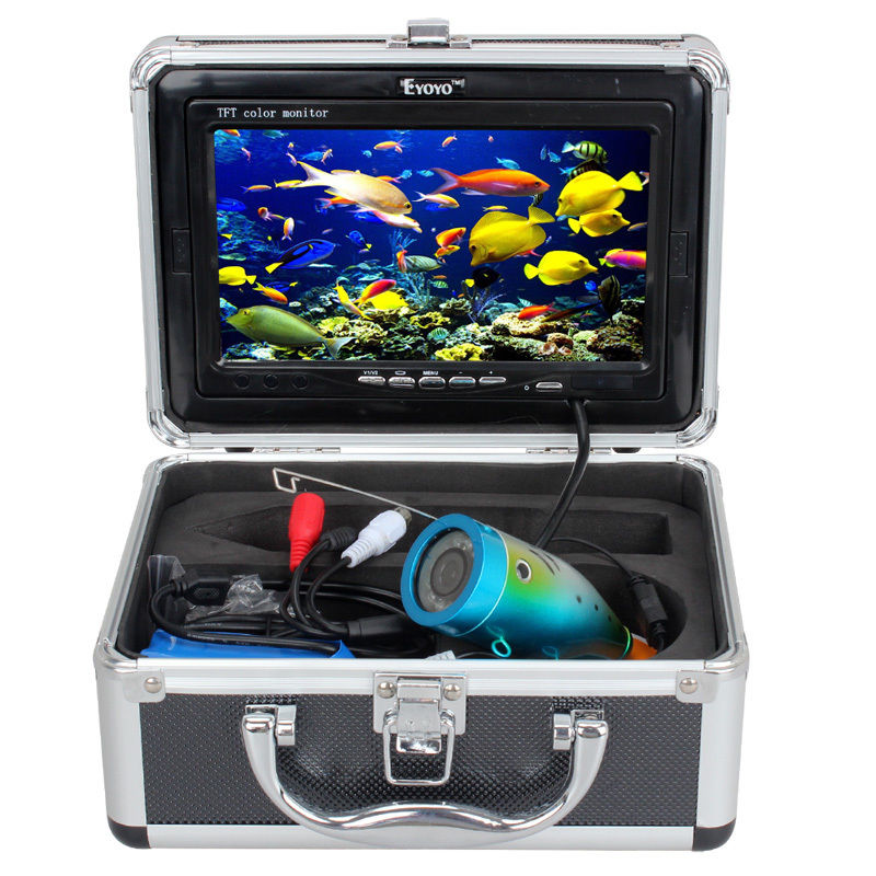 Free Shipping Eyoyo Original 30m Professional Fish Finder Underwater Fishing Video Camera 7 Color HD Monitor