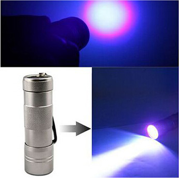 12 LED Ultra Violet UV Torch Light Flashlight for Urine ...