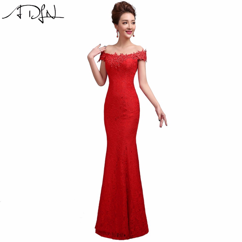 New 2017 Arrival Top Quality Mermaid Evening Dress Lace Women Vestidos Floor Length Formal Dresses(China (Mainland))