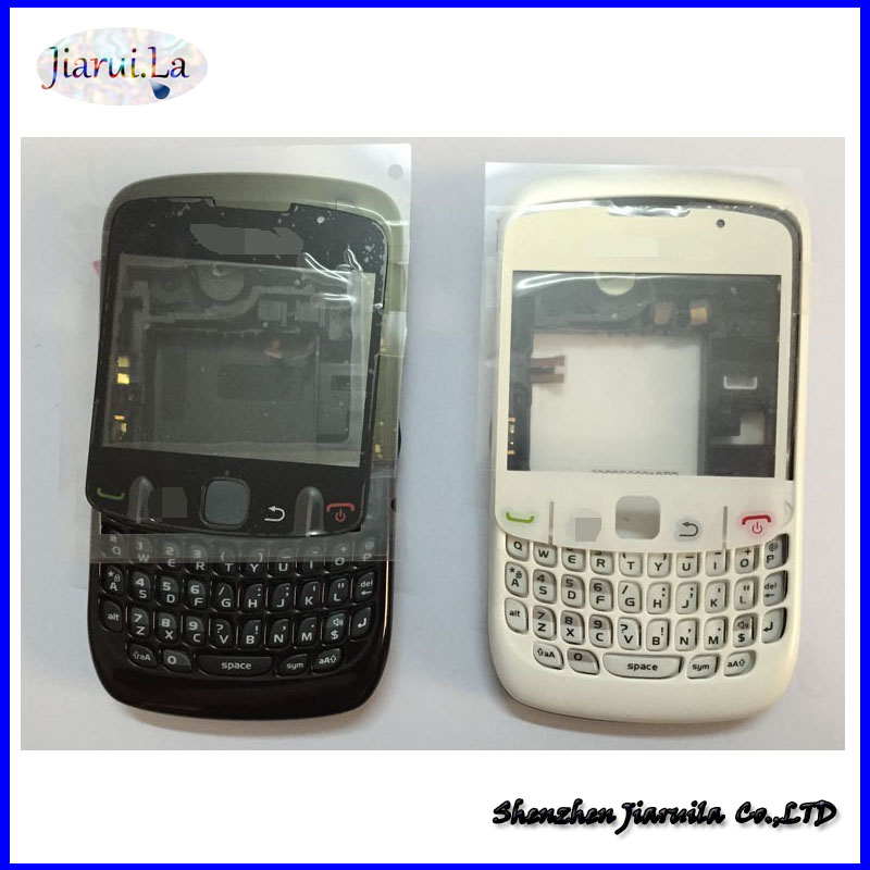 Original Full Housing For Blackberry Curve 8520 Complete Cover Case Replacement in White and Black(China (Mainland))