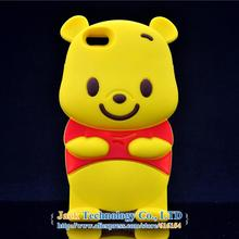 3D Winnie Style Phone Cases Animal Soft Silicone Cell Phone Protector Cover Shell Skin for Apple iPhone6 Plus 5.5″