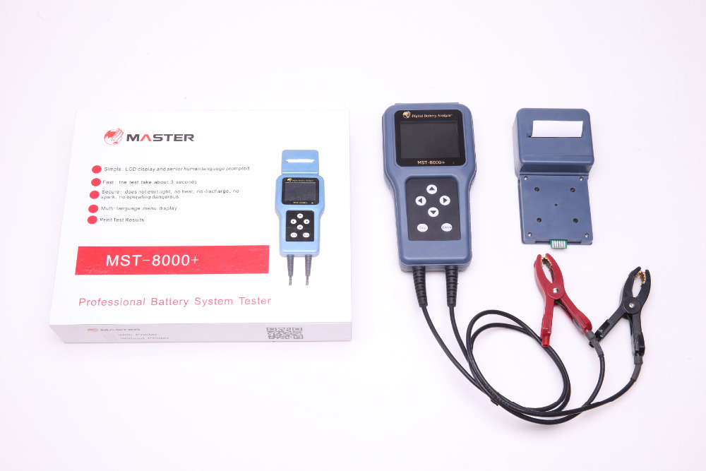 CE certificatified wholesale factory price digital battery analyzer with Built-in Printer MST-8000+ smart battery analyzer(China (Mainland))