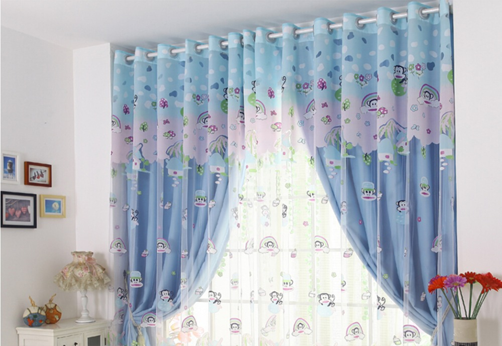luxury children 39 s room curtains cute monkey boys and girls bedroom