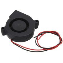 universal 50x50x15mm Electronic 3D Printer Standard 12V DC Blow Radial Cooling Fan Double Ball Bearing Long