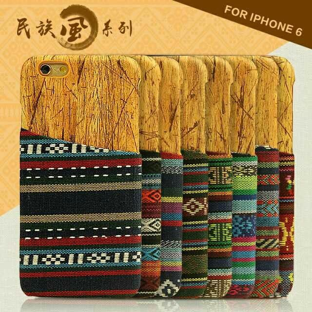 Credit Card Retro Wooden Case Cover Apple iPhone 6 Vintage Series Aztec Tribal Back Phone - ShenZhen ChengXiang Technology co., LTD store