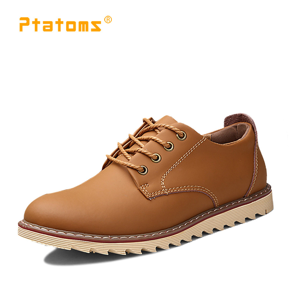 outdoor wear ankle boots genuine leather casual mens