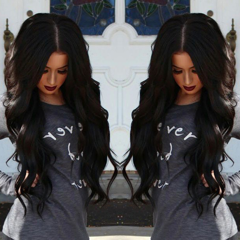 8A Glueless Full Lace Human Hair Wigs Peruvian Virgin Hair Body Wave Lace Front Human Hair Wigs For Black Women With Baby Hair(China (Mainland))