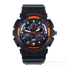 La jalea LED Digital a prueba de golpes deportes del reloj de alarma cronómetro hora 30 M a prueba de agua vestido relojes hombres de función de luz nocturna de 0907