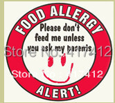 Buy food allergy safety stickers alert - Stickers protection cuisine ...