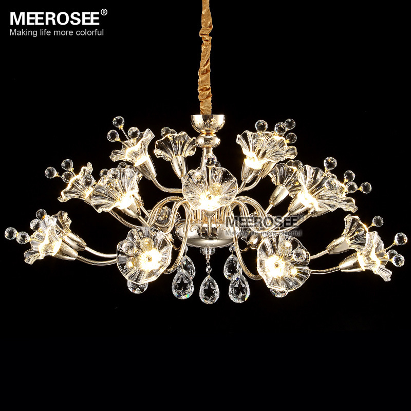 Gorgeous Flower Shape Chandelier Light Fixture Crystal Lighting/Lamp Lustres Lamparas Hanging Suspension Drop Foyer Light<br><br>Aliexpress