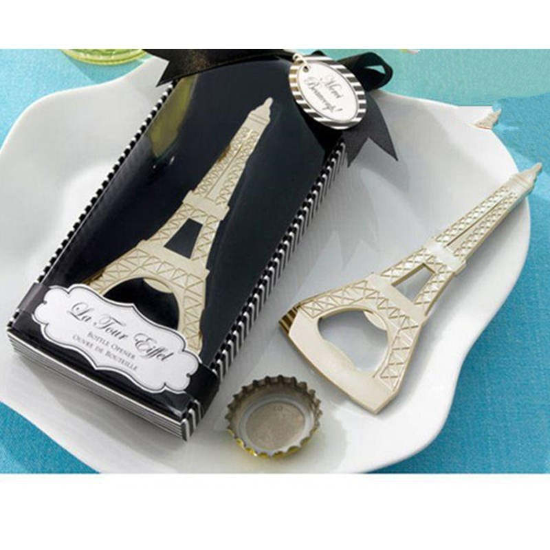 Wedding Favor and Gift Novelty Eiffel Towel Metal Bottle Opener Event Party Supplies Souvenirs Festival Gifts(China (Mainland))