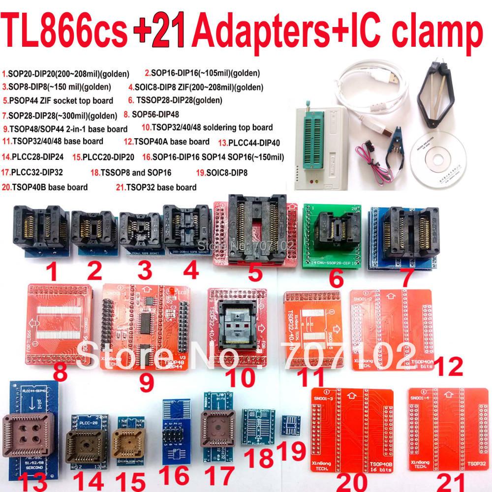 Tl866cs программер + 21 адаптеры + IC зажим английский русский руководство высокоскоростной TL866 AVR PIC Bios 51 MCU Flash EPROM программер
