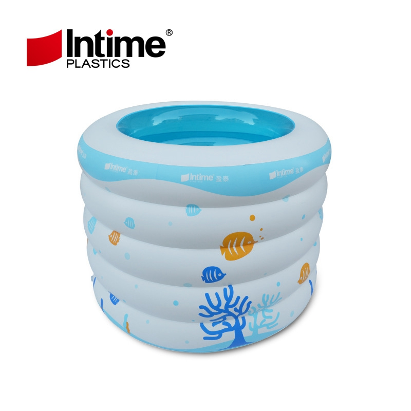 Five layer round colorful children Portable Inflatable Swimming Pool kid bath tub baby Thickening folding baby bathtub 106x75CM(China (Mainland))