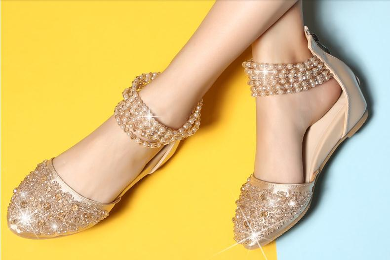 Trend 34 40 Women Summer Pumps Girls Beading Sandles Lady Rhinestone Wedges Students Crystal Zip Shoes Young Casual Bohemia Shoe<br><br>Aliexpress