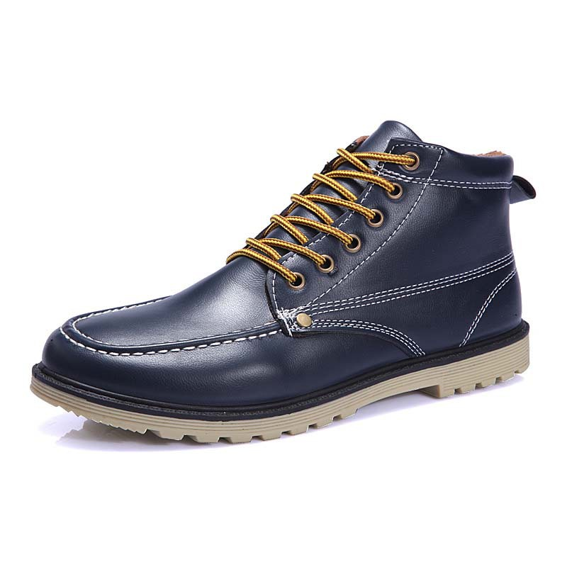 Classic New Artificial Leather Men Boots Fashion Warm Cotton Brand Ankle Boots Male Botas For Spring Autumn Winter Shoes RME-068(China (Mainland))