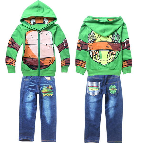 2015 Teenage Mutant Ninja Turtles Children Hoodies Costume Clothes Kids Boys Jacket Coat with Jean Pants Boy Clothing Sets  sc 1 st  Bajby.com & 2015 Teenage Mutant Ninja Turtles Children Hoodies Costume Clothes ...