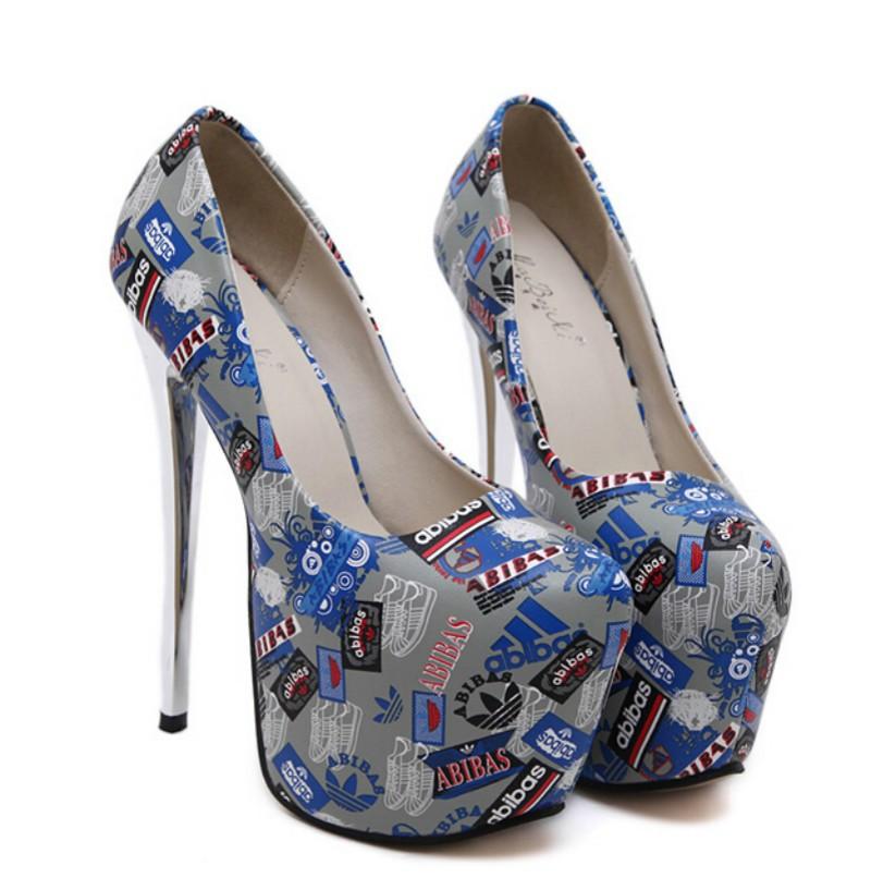 ซื้อ แคทวอล์รุ่น16เซนติเมตรส้นในยุโรปและอเมริกาใหม่ไนท์คลับต่อสู้ปากสีดีกับรองเท้าเซ็กซี่