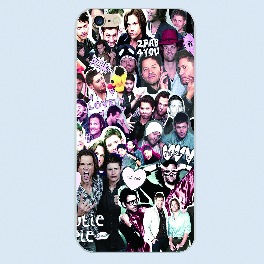 New SUPERNATURAL COLLAGE ART design phone case For Apple iphone 4 4s 5 5c 5s 6 6s plus plastic cover hard shell(China (Mainland))