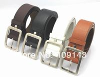 4colors Black White Brown Fashion Men Kids Belts Children Boy Waist PU Leather School Jean belts Pin Buckle Freeshipping