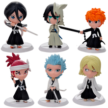6pc set Bleach Ichigo Ulquiorra cifer Renji Gin Action Figures Anime PVC brinquedos Collection Figures toys