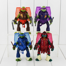 """6"""" 14cm 4Pcs/Lot New Arrival Colorful TMNT Mutant Ninja Turtles Movability With Light Toy Model Action Figure Toys Gifts (China (Mainland))"""