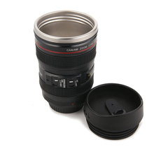 200ml Thermos Coffee Mug Tea Water Bottles Drinking Cup Drinkware Camera Lens Shape Lid Air Hole Heat Insulation Stainless Steel(China (Mainland))