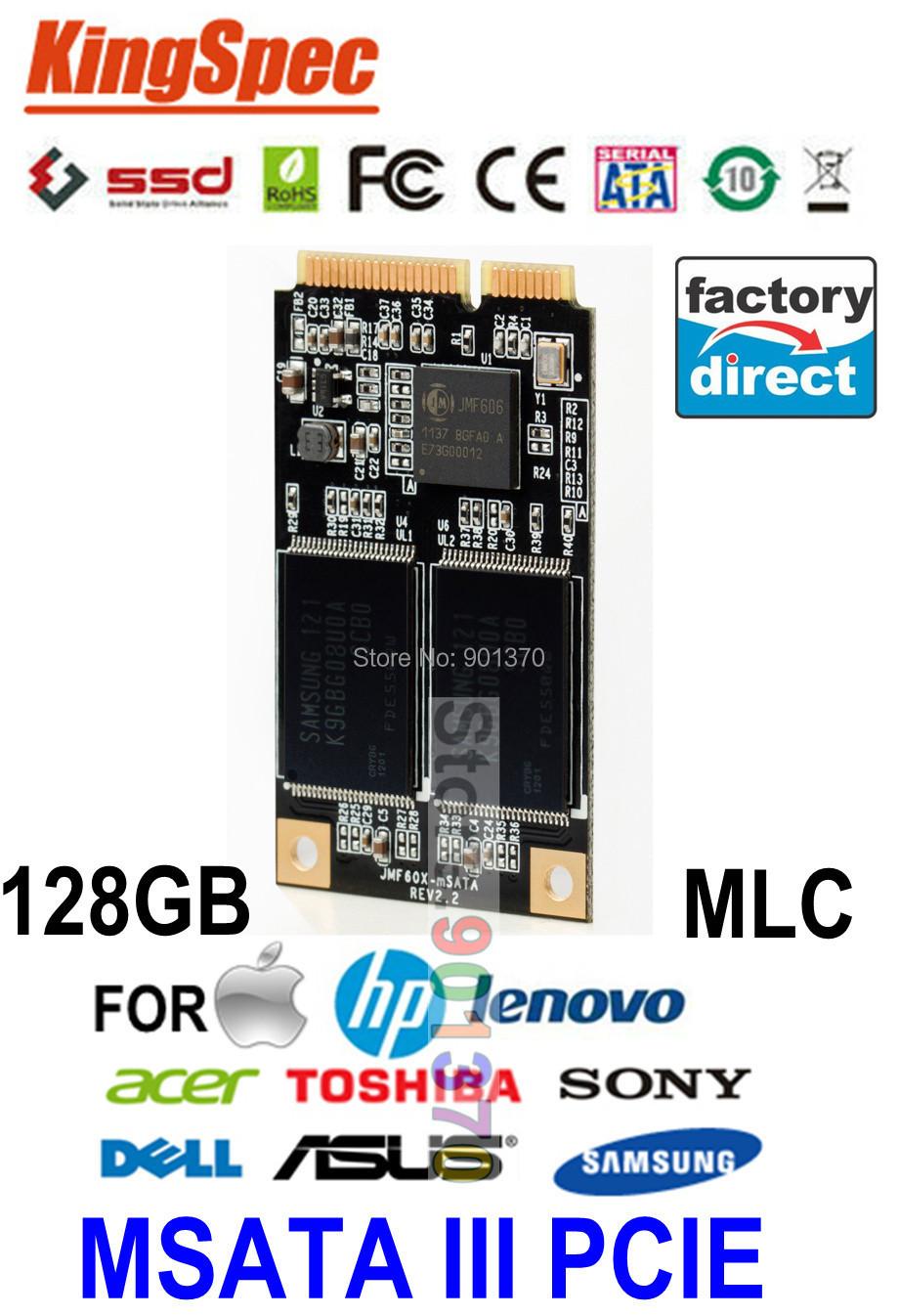 Mini PCIE MSATA 128GB SSD SATA III Solid State Drive Disk 120GB For HP Dell Asus Tablet PC For Lenovo V370 V470 Y470 K26 K27(China (Mainland))